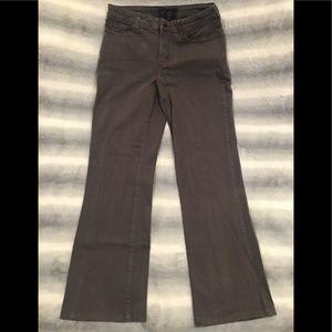 NYDJ dark hazel straight leg jeans size 12.